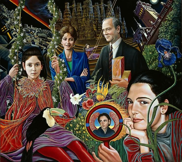 Barcelona Family - portrait by Mati Klarwein - 1994