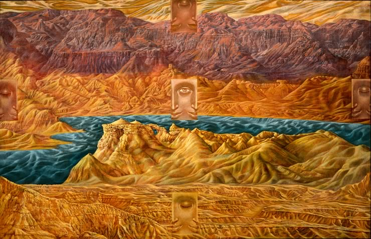 surreal landscapes by Mati Klarwein - Dead See
