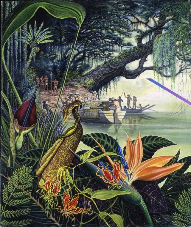 First Encounter - visionary art by Mati Klarwein - 1989