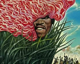 Jimi Hendrix by Mati Klarwein (1970); portrait paintings