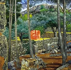 Saint John by Mati Klarwein - visionary landscape paintings