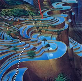 Soundscape by Mati Klarwein - surreal landscapes