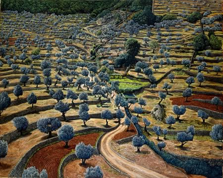 Camouflage by Mati Klarwein - landscape paintings
