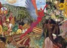 Annunciation by mati Klarwein (1961) Abraxas cover