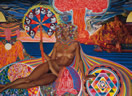 Nativity by Mati Klarwein (1961) - visionary art - psychedelic art