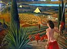 Visit by Mati Klarwein (1996) - surreal art